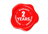 Two years warranty seal