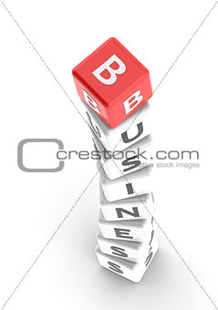 Business puzzle word