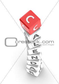 Calendar puzzle word