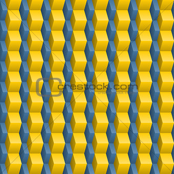 Abstract blue-yellow seamless texture