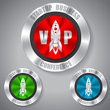 Start up badges in different colors