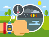 Weather Application on Smart Watch