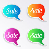Sale speech bubbles