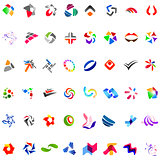 48 different abstract trendy symbols