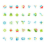 Different abstract trendy symbols