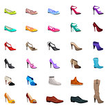 Women s fashion collection of shoes.