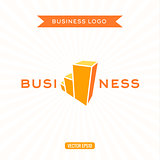 Business logos flat chart, stage, growth, vector illustration