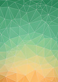 Abstract Yellow Green polygonal background