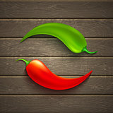 Two chili pepper