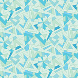 Vector blue mosaic abstraction. Seamless background