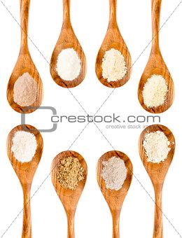 gluten free flour spoon collection