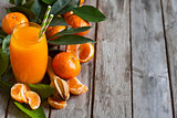 Tangerine juice background