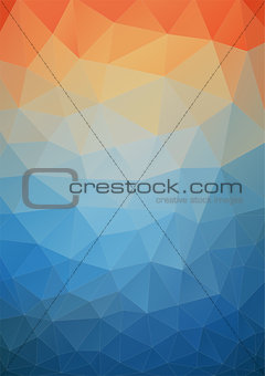 Tial orange polygonal background for web design