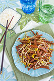 Spam Bean Sprout Stir Fry