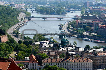 Prague and Vltava river