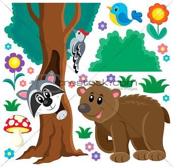 Forest animals theme set 3