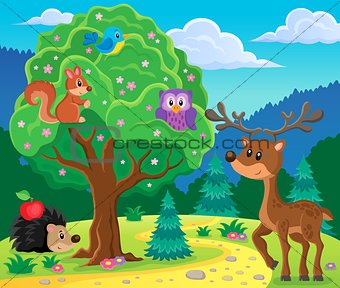 Forest animals topic image 4