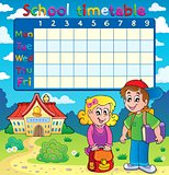 School timetable with two children