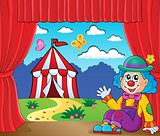 Sitting clown theme image 6