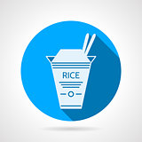 Rice pack flat round vector icon
