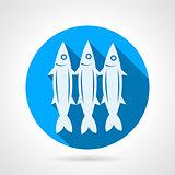 Sardine flat round vector icon