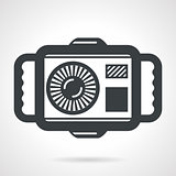 Underwater camera flat vector icon
