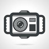 Underwater camera flat vector icon