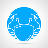 Round vector icon for crab