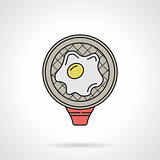 Color vector icon for fried egg