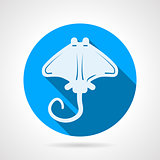 Stingray flat round vector icon