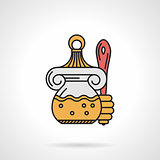 Honey jar flat vector icon