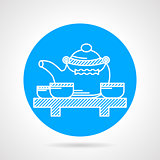 Teatime round vector icon