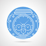 Sports wrist watch vector icon