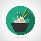 Rice dish flat vector icon