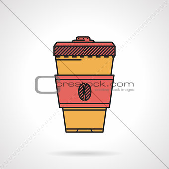 Flat vector icon for coffee cup