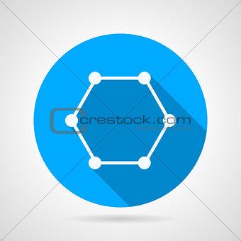 Cyclic molecule flat vector icon