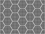Design seamless checked hexagon pattern