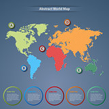 Abstract world map with pointers template