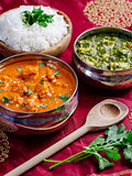 Murgh Makhani and Saag Paneer