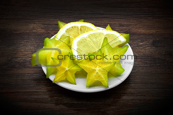 Carambola and lemon