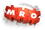 MRO - White Abbreviation on Red Puzzles.