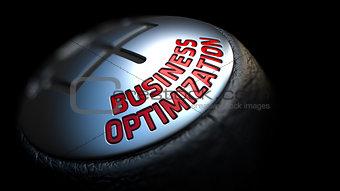 Business Optimization. Gear Lever. Control Concept.