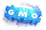 GMO - White Abbreviation on Blue Puzzles.