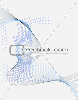 Blue abstract blend and halftone composition background