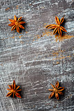 Food background with star anise