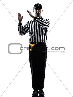 american football referee gestures intentional grounding silhoue