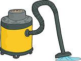 Wet-Dry Vacuum Sucking Water