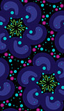 Dark Psychedelic Seamless Pattern