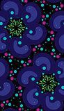 Dark Psychedelic Seamless Pattern