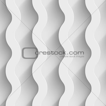 Abstract white paper 3d waves seamless background